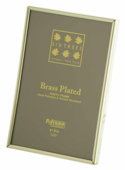 Sixtrees 1-400-46 4 x 6-inch Hartford Brass Plated Photo Frame