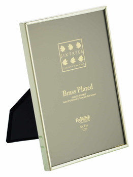 Sixtrees 1-400-57 5 x 7-inch Hartford  Brass Photo Frame