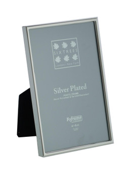 Sixtrees Cambridge 2-400-46 6 x 4-inch (152x102mm) Narrow Rim Silver Plated Photo Frame