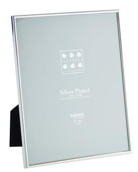 Sixtrees Cambridge 2-400-80 10 x 8-inch (254x203mm) Cambridge Narrow Rim Silver Plated Photo Frame.