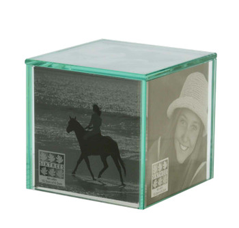 Sixtrees 3-203-44QB Glass Photo Cube for Five 4 x 4 inch Photos.