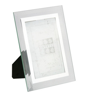 Sixtrees Stanbridge GM174 Bevelled Glass & Mirror Line inset 6x4 inch Photo Frame.
