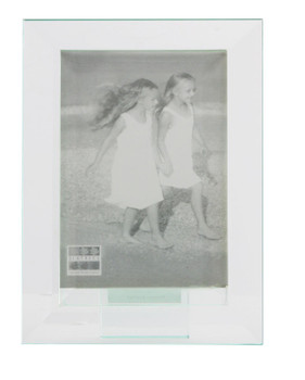 Sixtrees Meadow GT309-35V Bevelled Heavy Glass 5 x 3.5inch Photo Frame.