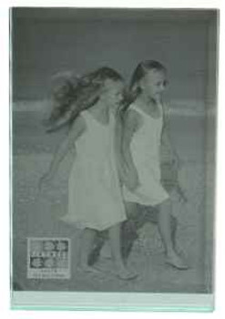 """Sixtrees GT602-57V Heavy Solid square cut Glass photo frame for two 5"""" x 7"""" pictures.thumb"""
