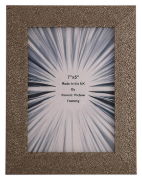 Charleston Shiny Sparkly Embossed Pewter 7x5 inch photo frame with mirror effect edge.