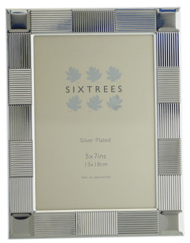 Sixtrees 6-341-57 Osullivan  Silver Plated 7x5 inch Photo Frame