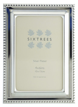 Sixtrees 6-350-46 Hunter Silver Plated 6x4 inch Photo Frame