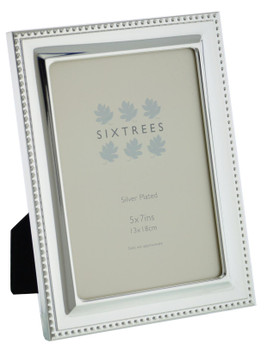 Sixtrees 6-350-57 Hunter Silver Plated 7x5 inch Photo Frame