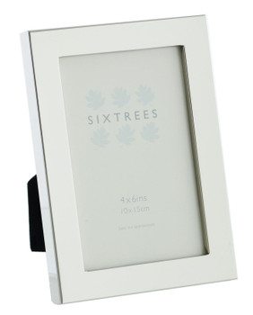 Sixtrees Madrid Square edge Silver Plated 6x4 inch Photo Frame