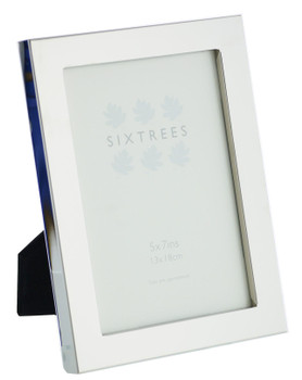 Sixtrees Madrid Square edge Silver Plated 7x5 inch Photo Frame
