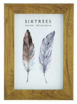Sixtrees Twilight WD-205-46 Light Oak Finish 6x4 inch Photo Frame