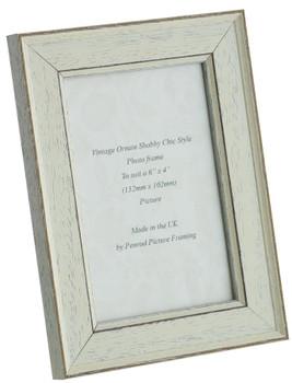 Siena White 6x4 inch  Handmade Shabby Chic  Photo Frame.