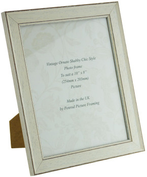 Siena White 10x8 inch  Handmade Shabby Chic  Photo Frame.