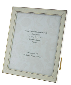 Siena White 12x10 inch  Handmade Shabby Chic  Photo Frame.