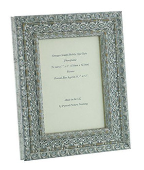 """Handmade Ornate Distressed Silver Shabby Chic Vintage Picture Frame for a 7"""" x 5"""" (178mm x 127mm) Photo"""