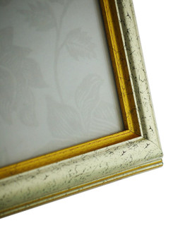Sorrento Silver Handmade 14x11 inch  Photo Frame Distressed with  gold highlights