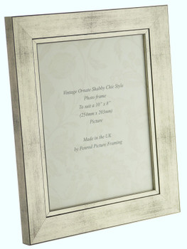 Oslo Antique Silver Handmade 10x8 inch Photo Frame in Modern Distressed Antique Silver