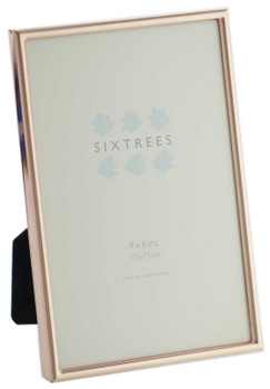 Sixtrees 2-405-46 Winchester Copper 6x4 inch Photo Frame.