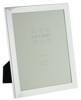 Sixtrees 6-344-80 White Silver Plated 10x8 inch Photo Frame