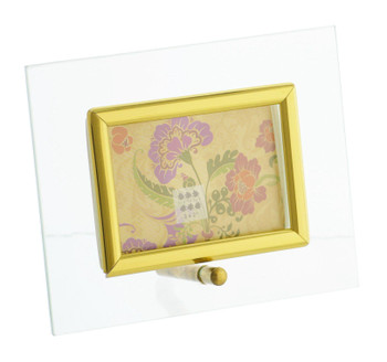 Sixtrees Flat Bevelled Glass Frame Gold - Landscape - 3x2 Inch