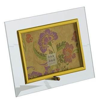 Sixtrees GT123H Flat Bevelled Gold Glass 5x3.5 inch Photo Frame Horizontal
