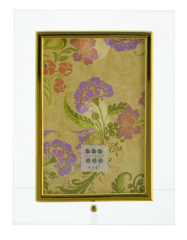 Sixtrees GT124V Flat Bevelled Glass 6x4 Inch Photo Frame with Gold Trim - Vertical