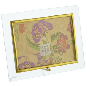 Sixtrees Flat Bevelled Glass Frame Gold - Landscape - 7x5 Inch
