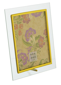 Sixtrees GT126V Flat Bevelled Glass 8x6 Inch Photo Frame with Gold Trim - Vertical