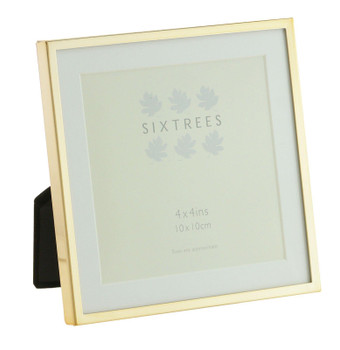 Sixtrees Park Lane Rose Gold 4 x 4 inch Photo Frame with mount.