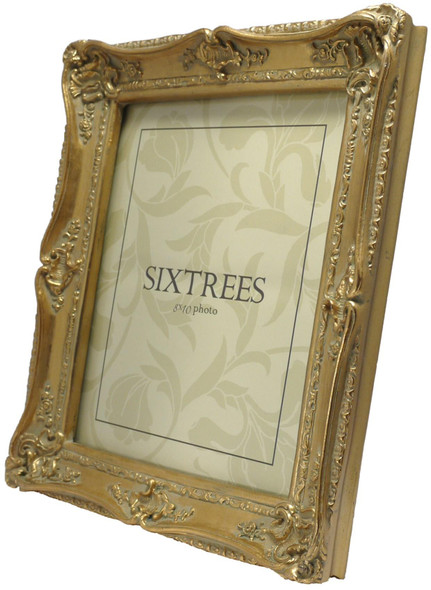 Sixtrees Chelsea 5-250-80 Shabby Chic Style Very Ornate Gold 10x8 inch Photo Frame
