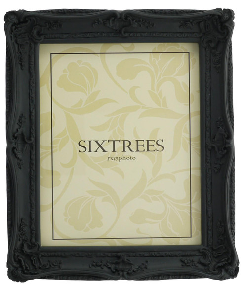 Sixtrees Chelsea 5-253-80 Shabby Chic Style Very Ornate Black Photo 10x8 inch Photo Frame