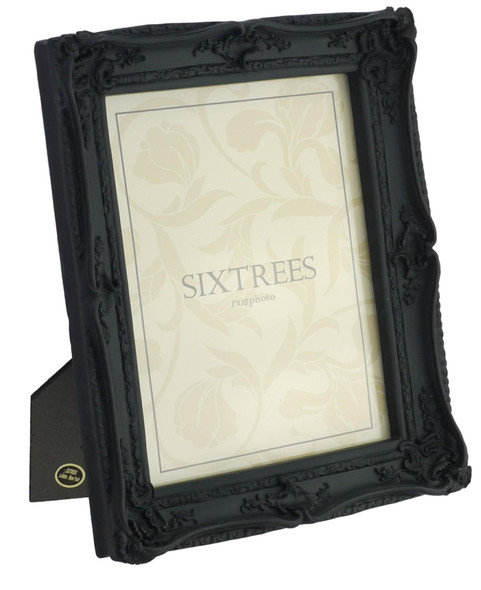 "Shabby Chic Style Very Ornate Black Photo Frame for 10""x8"" (254x203mm) Pictures"