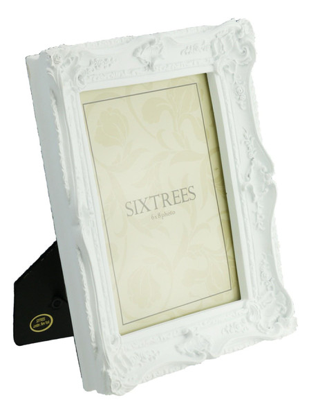 "Shabby Chic Style Very Ornate Matt White Frame for 8""x6"" (200x152mm) Pictures - Chelsea, by Sixtrees."
