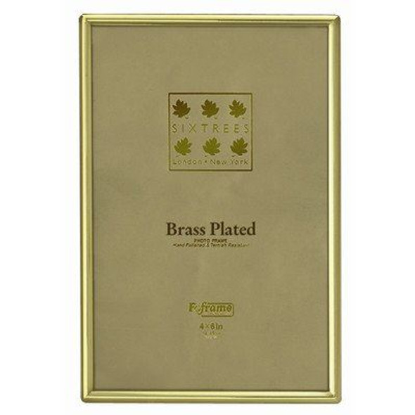 Sixtrees 1-400-35 3.5 x 5-inch Hartford Brass Plated Photo Frame