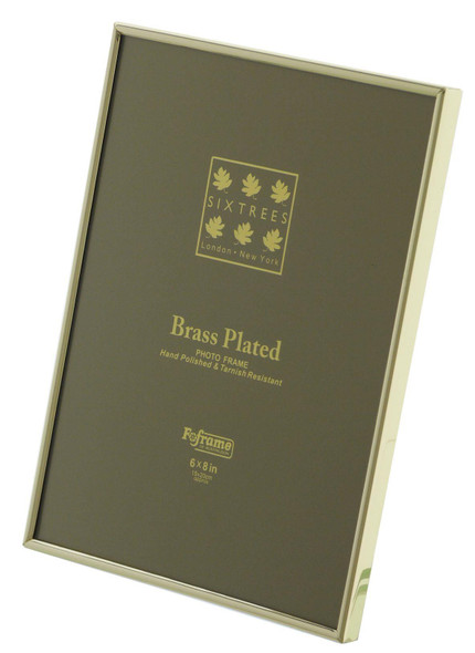 Sixtrees 1-400-68 6 x 8-inch Hartford Solid Brass Photo Frame