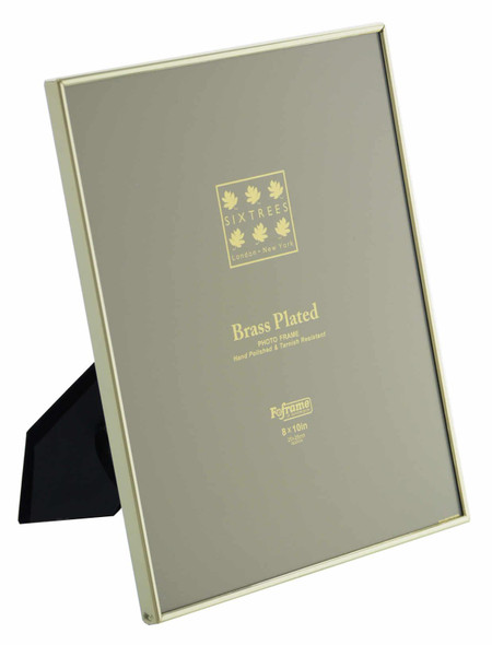 Sixtrees 1-400-80 8 x 10-inch Hartford Brass Plated Photo Frame