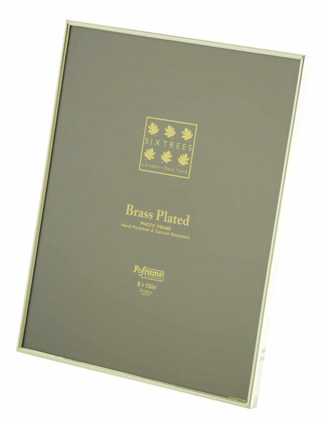 Sixtrees 1-400-80 8 x 10-inch Hartford Plated Brass Photo Frame