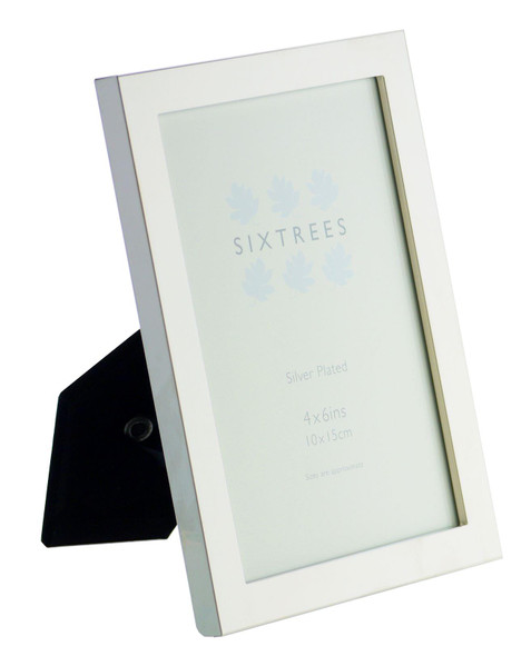 Sixtrees Elite Square Edge Silver Plated 6x4 inch (152x102mm) Photo Frame