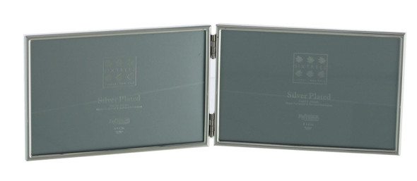 "Sixtrees Cambridge 2-400-64HD Silver Plated Folding Photo Frame for two 4"" x 6"" Pictures"