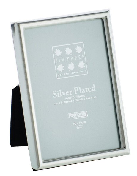Sixtrees 2-400-23 2.5 x 3.5-inch Cambridge Narrow Rim Silver Plated Photo Frame