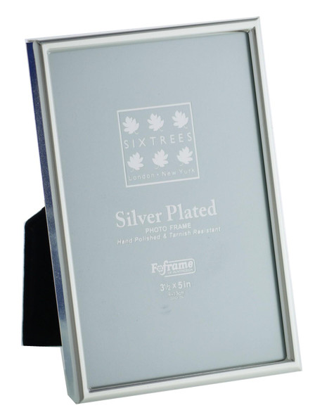 Sixtrees 2-400-35 3.5 x 5-inch Cambridge Narrow Rim Silver Plated Photo Frame