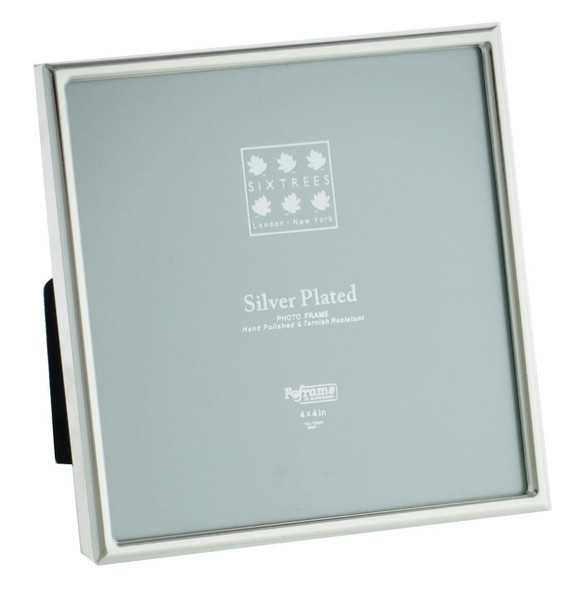 "Sixtrees Cambridge 2-400-44  Silver Plated 4"" x 4"" (102x102mm) Photo Frame"