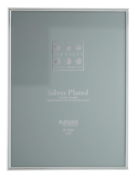 Sixtrees Cambridge 2-400-68 8 x 6-inch (203x152mm) Narrow Rim Silver Plated Photo Frame