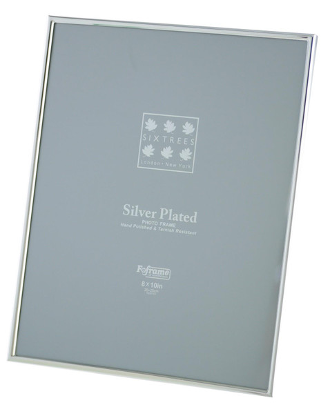 Sixtrees Cambridge 2-400-80 10 x 8-inch (254x203mm) Cambridge Narrow Rim Silver Plated Photo Frame.