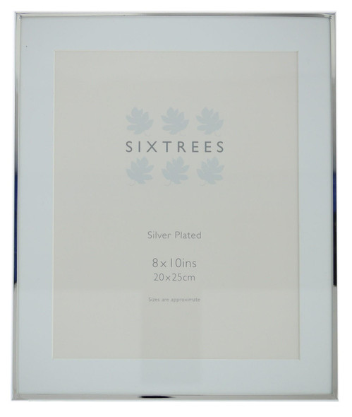 Sixtrees Park Lane 2-653-80 Silver Plated 10x8 inch Photo Frame with Mount.