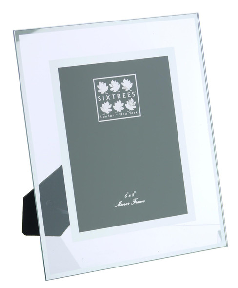 Sixtrees Lenton 3-601-68 Flat Glass  and Mirror Line 8x6 inch Photo Frame.