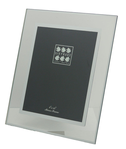 Sixtrees Lenton 3-601-80 Flat Glass  and Mirror Line 10x8 inch Photo Frame.