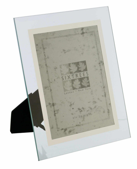 Sixtrees Stanbridge GM176 Bevelled Glass & Mirror Line inset 8 x 6 inch Photo Frame.