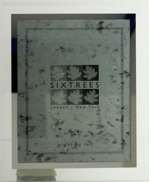 Sixtrees Stanbridge GM178 Bevelled Glass and Mirror Line inset 10x8 inch Photo Frame.