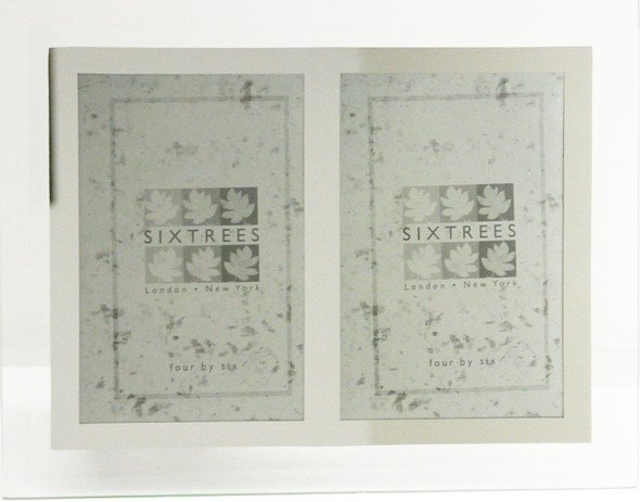 """Sixtrees Stanbridge GM174-2 Bevelled Glass & Mirror Line Photo Frame for two 6"""" x 4"""" pictures."""